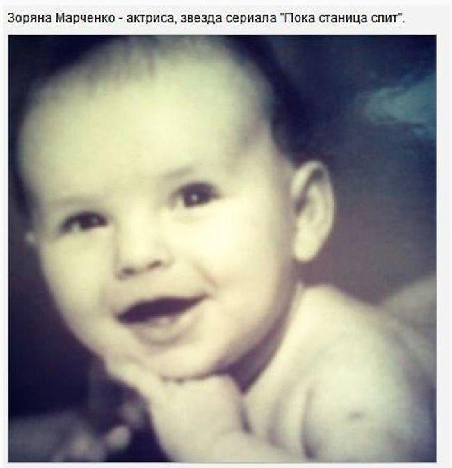 Российские звезды показали миру свои детские фотографии (13 фото)
