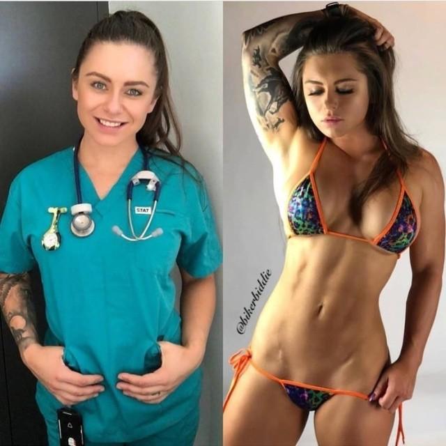 Пейдж Миллс - австралийская медсестра, которая не стесняется своего тела (20 фото)