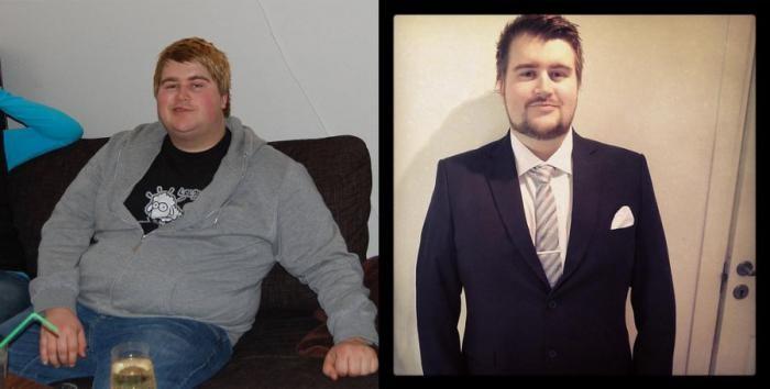 Борьба с лишним весом до и после (12 фото)