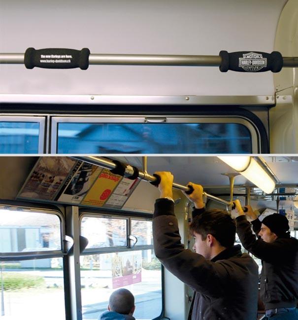 Креативная реклама на поручнях в транспорте (12 фото)