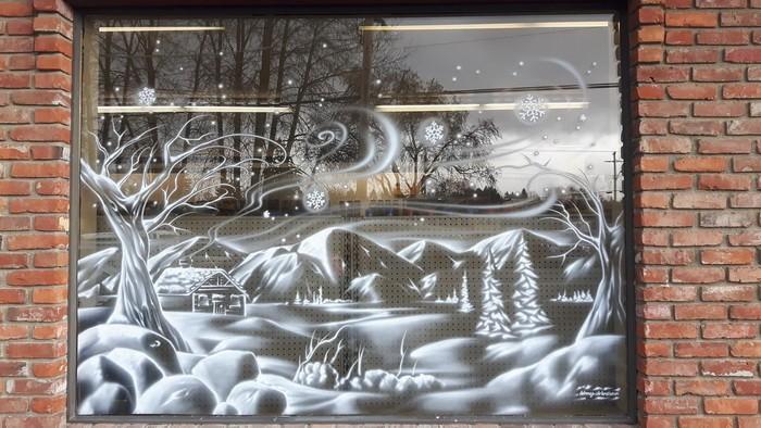 Как украсить окна к Новому году (5 фото)