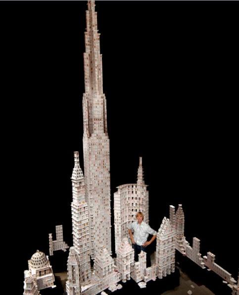Удивительный карточный скульптор Брайан Берг (18 фото)
