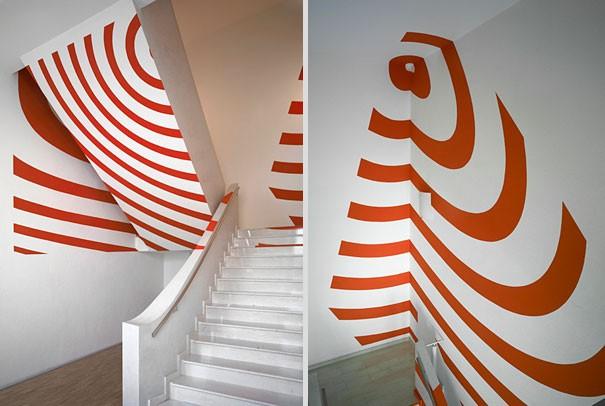 Оптические иллюзии в интерьере (34 фото)