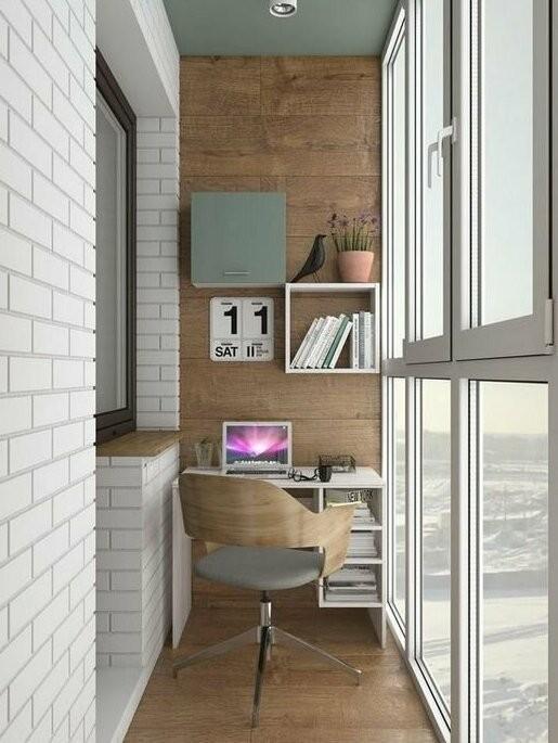 Крутые идеи для маленьких и узких балконов (23 фото)
