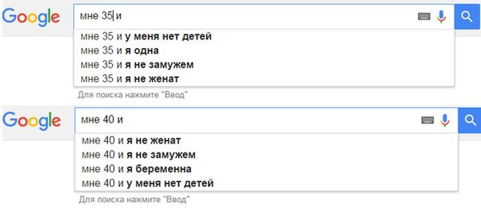 Как меняются поисковые запросы с возрастом (6 фото)