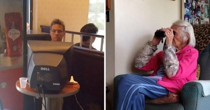Люди в возрасте, которые сражаются с новыми технологиями (20 фото)