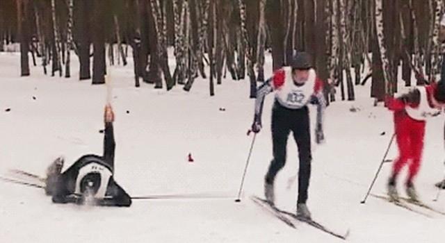 Неудачные трюки на лыжах и сноубордах (17 гифок)
