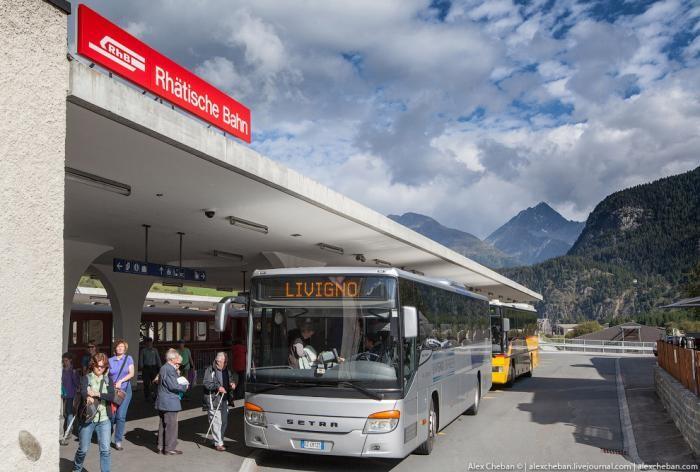 Красивейшие железные дороги Швейцарии (24 фото)