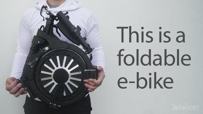 Электровелосипед без труда помещается в рюкзак (8 фото)