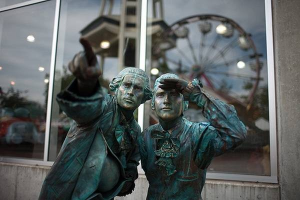 Живые статуи (35 фото)
