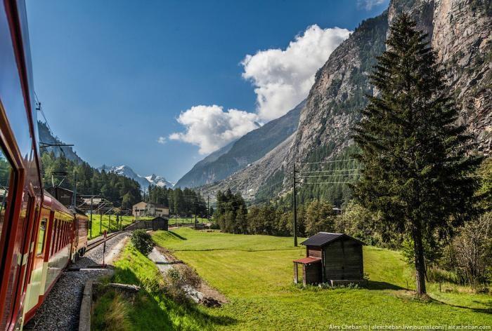 Красивейшие железные дороги Швейцарии (34 фото)