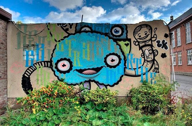 Заброшенная деревня Дул и удивительное искусство (20 фото)