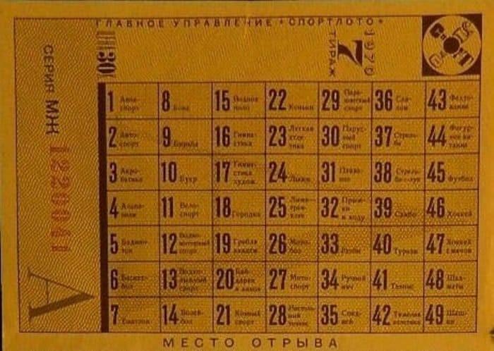 В чем секрет успеха советского «Спортлото» (10 фото)