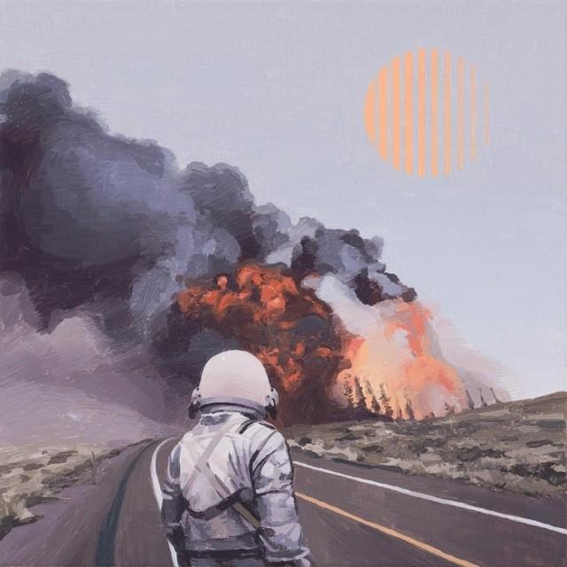 """Серия работ """"Одинокий астронавт"""" от художника Скотта Листфилда (25 фото)"""