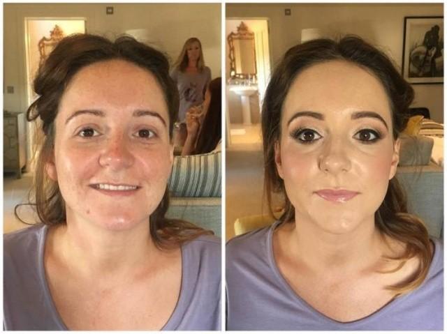 Свадебный макияж: до и после (27 фото)
