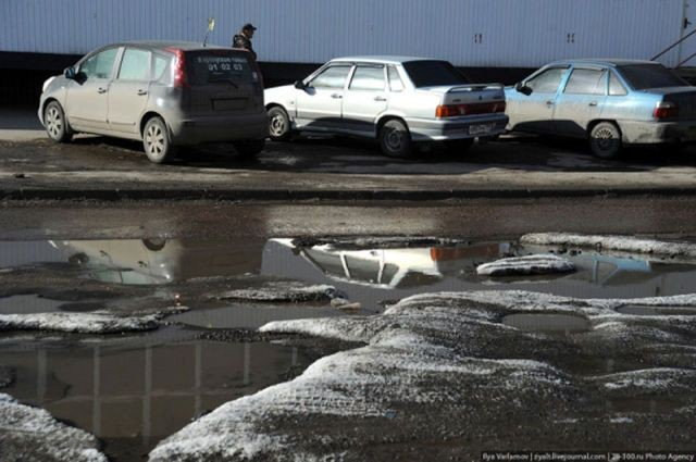 Весна на русских дорогах (17 фото)