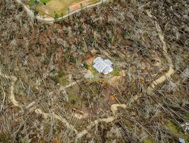 Дом, уцелевший во время разрушительного торнадо (10 фото)