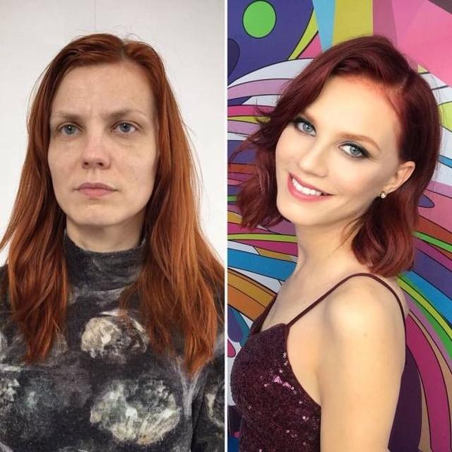 """Современный макияж творит чудеса: """"До и после"""" (26 фото)"""
