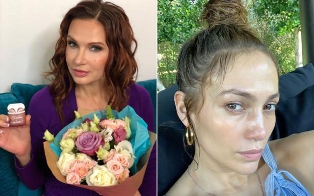Внешность российских и зарубежных знаменитостей одного возраста (12 фото)