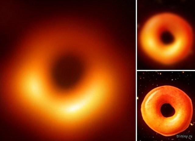 Шутки и юмор по поводу первой фотографии чёрной дыры (22 фото)