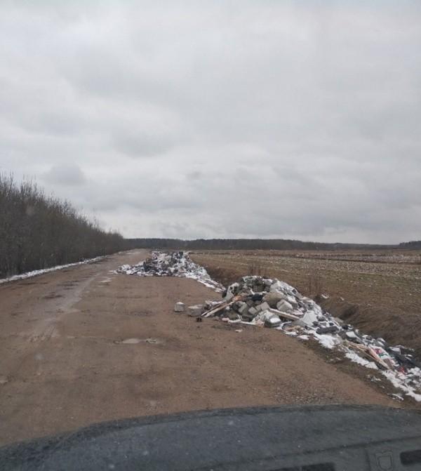 """Водители не оставили безнаказанным """"вывоз"""" строй- мусора (7 фото)"""