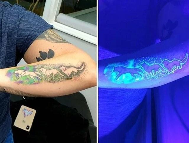 Необычные люминесцентные тату (33 фото)