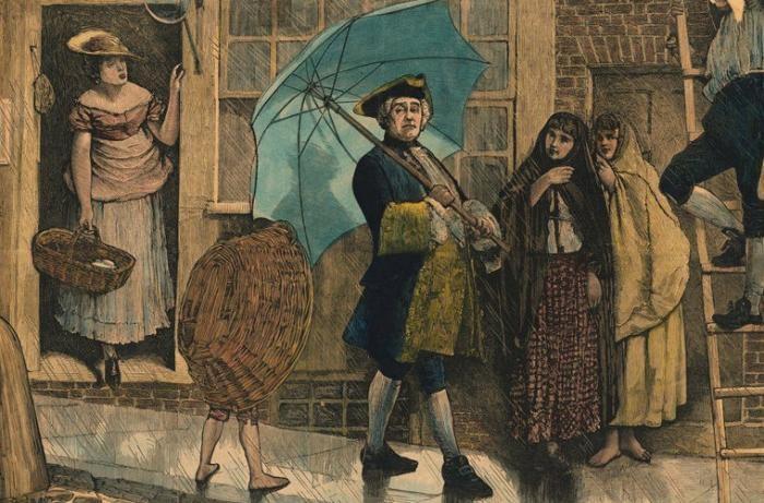 Необычная история обычного зонтика (3 фото)
