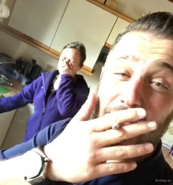 Шотландец после вечеринки вломился в чужой дом, чтобы поесть (2 фото)