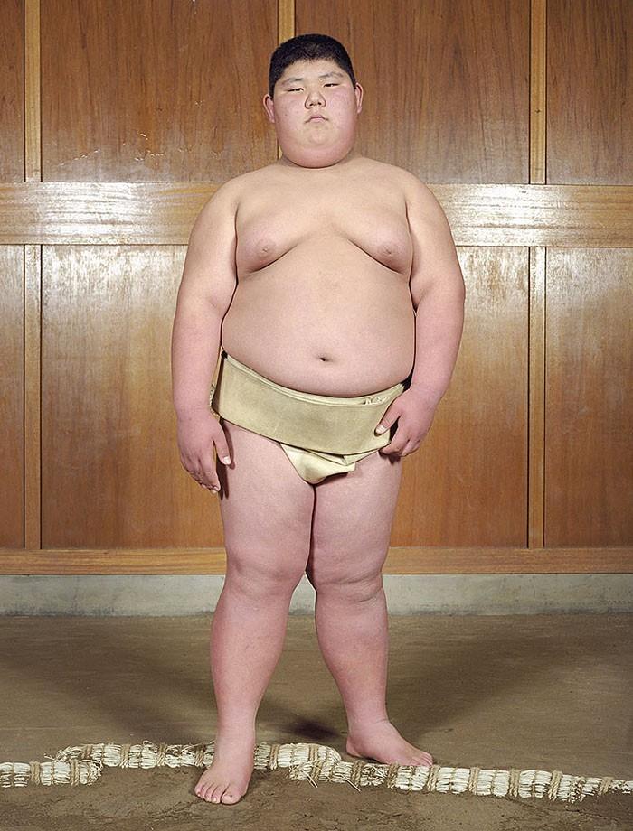 Будущие борцы сумо (35 фото)