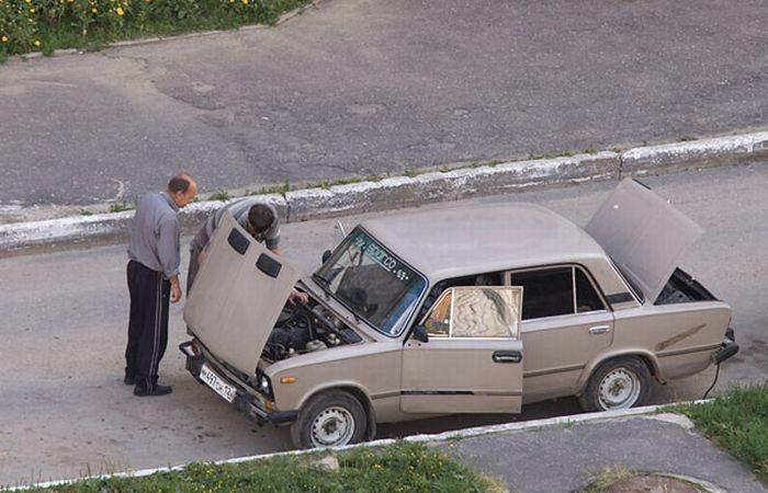 Утреннее обращение к владельцу ВАЗ 2106 (3 фото)