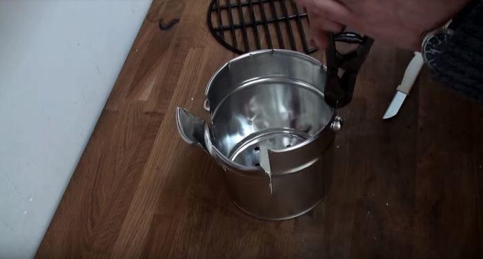 Простой способ сделать мангал своими руками (5 фото)