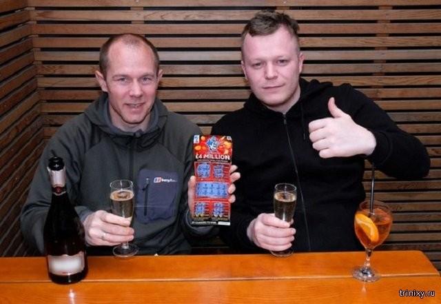 Выиграли 4 миллиона фунтов в лотерею но деньги вряд ли получат (2 фото)