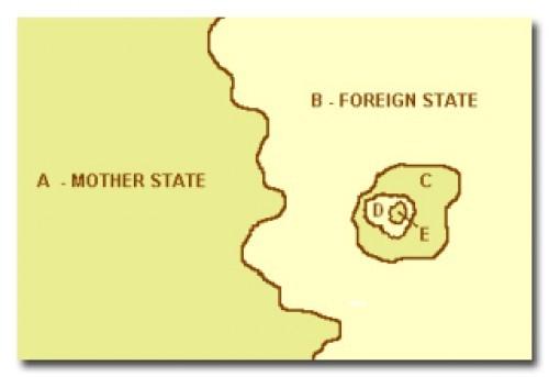 Самые странные государственные границы (10 фото)
