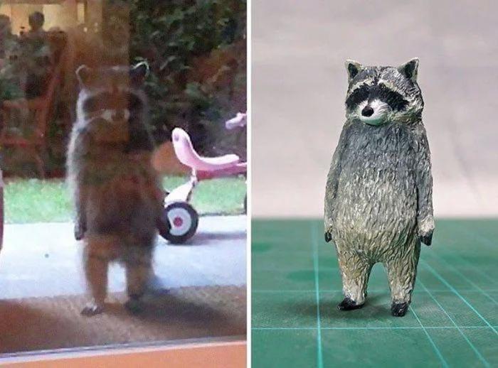 20 мемов со смешными животными превратились в скульптуры (20 фото)