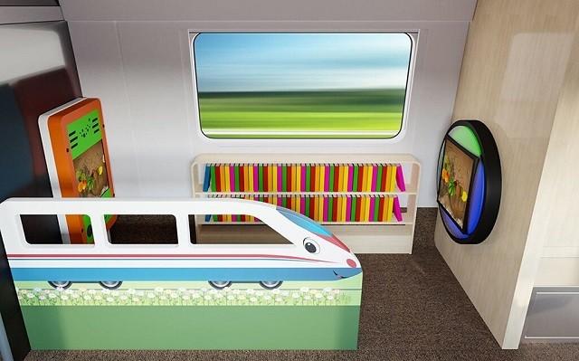 Как будет выглядеть новый интерьер высокоскоростного поезд (5 фото)