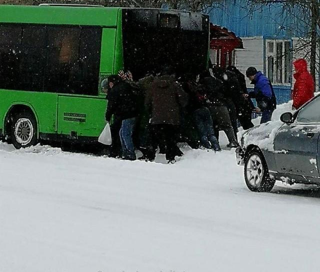 На пороге лета в Салехарде начался снегопад (11 фото)