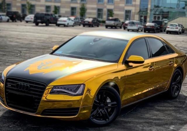 """В Питере вытащили из пруда """"золотую"""" Audi чемпиона (2 фото)"""
