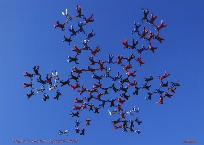 Самые впечатляющие фигуры парашютного спорта (19 фото)