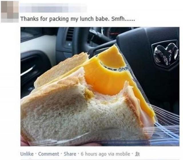 Бутерброд от любимой девушки (2 фото)