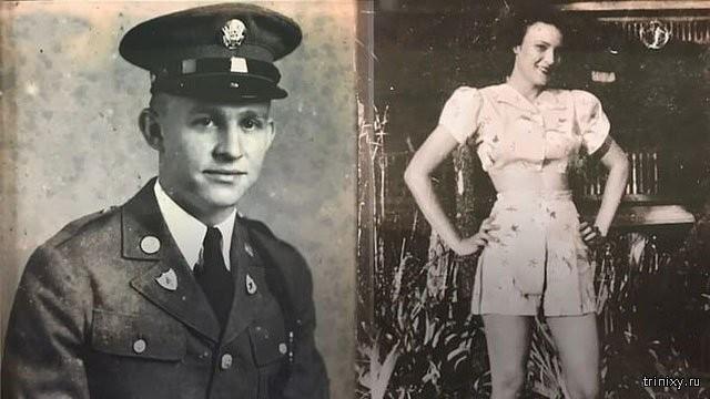 Ветеран Второй мировой встретился с первой возлюбленной (6 фото)