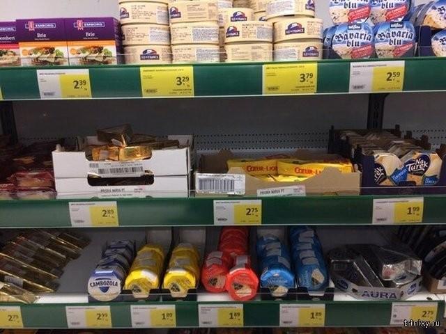Сколько стоят продукты в магазинах Эстонии, Польши и Латвии (32 фото)