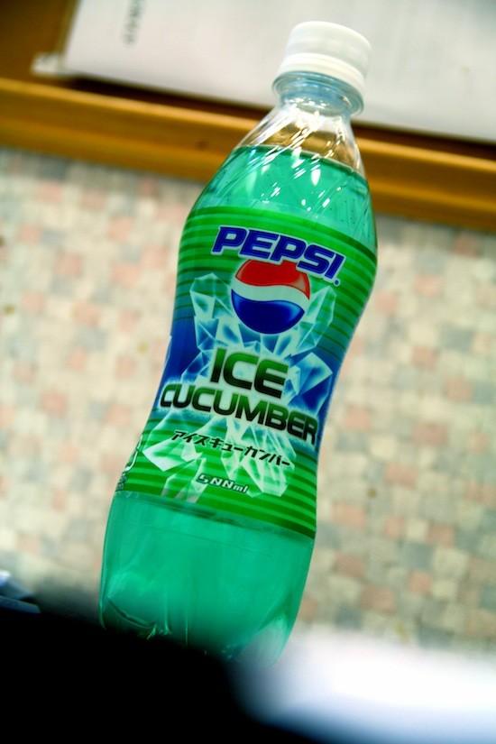 Существует Pepsi со вкусом огурца (4 фото)