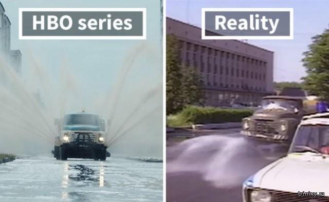 Фотографии Чернобыльской катастрофы и кадры из сериала (20 фото)