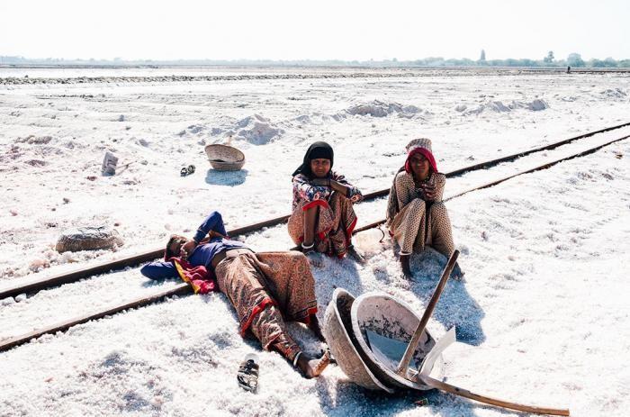 Работа сборщиков соли в Индии в фотографиях (22 фото)