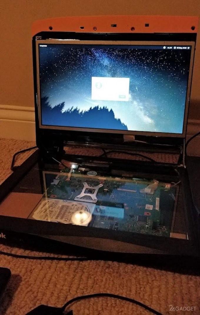 Умелец переделал принтер в ноутбук (3 фото)