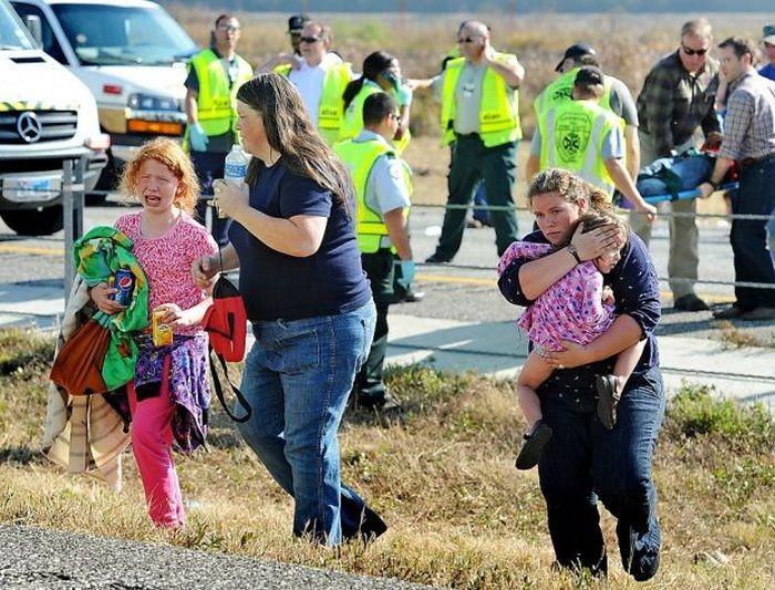 Крупная авария в Техасе (9 фото)