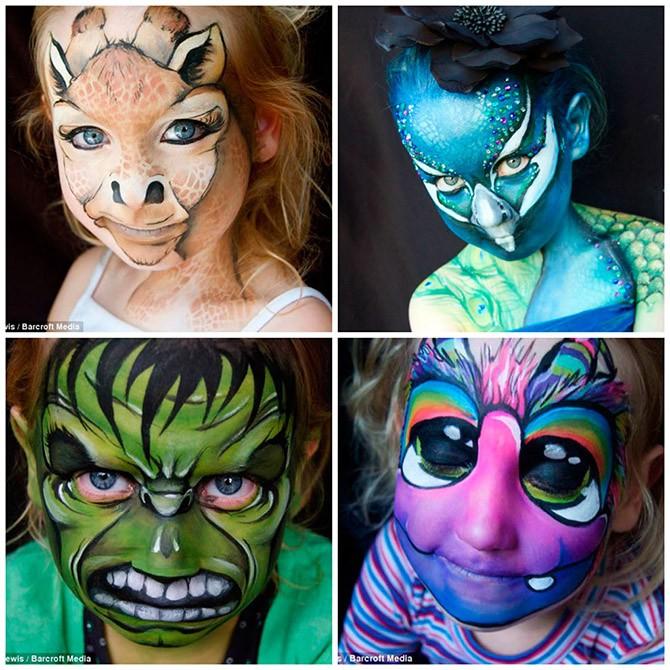 Детский боди-арт на лице (10 фото)