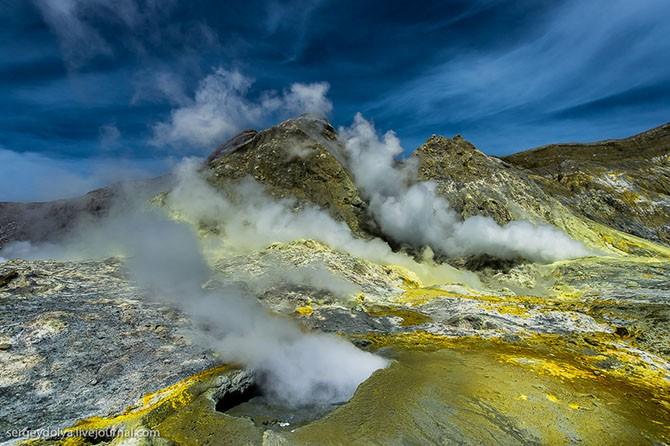 Уайт айленд – частный вулкан посреди океана (41 фото)