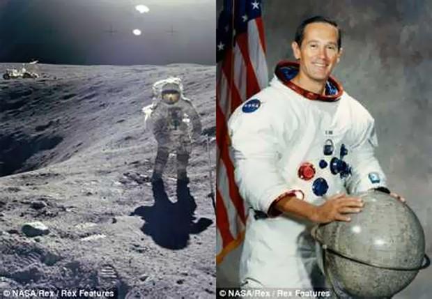 Семейное фото астронавта на луне (3 фото)