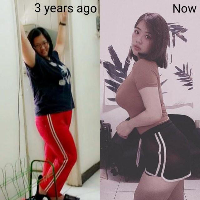 Девушка изменила образ жизни и свою внешность (11 фото)
